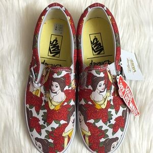 f12ad9a7b68353 Vans Shoes - Vans Disney Beauty and The Beast Belle Slip On