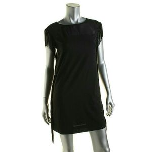 NWOT black fringe dress