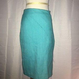 Eva Franco Dresses & Skirts - Teal Eva Franco Trumpet Pencil Skirt size 2 EUC