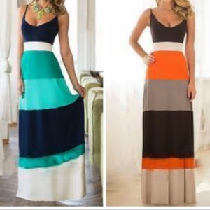 Dresses & Skirts - Blue stripe maxi dress