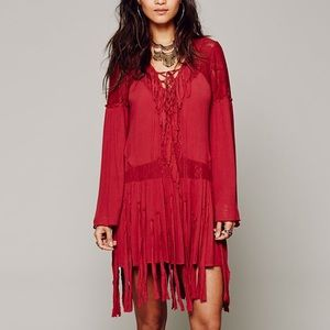 Free People Dresses & Skirts - Free People Red Shipwreck Cove Dress