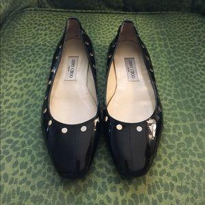 Jimmy Choo Shoes - ✨NWOT✨ Jimmy Choo Black Patent Flats