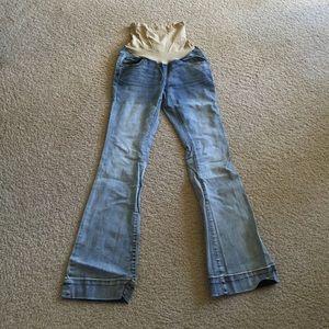 Indigo Blue Denim - Maternity boot cut jeans
