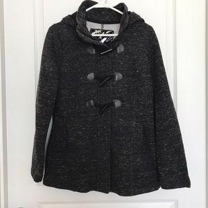 Sebby Jackets & Blazers - Sebby Charcoal Gray Sweatshirt Peacoat (sz M)