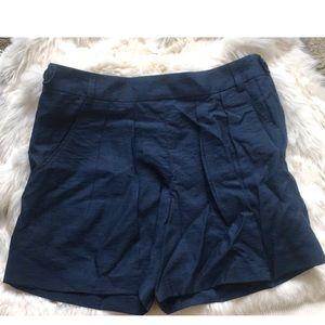 A.P.C. Pants - A.P.C Women's NavyBlue CargoShorts ButtonsOnSide