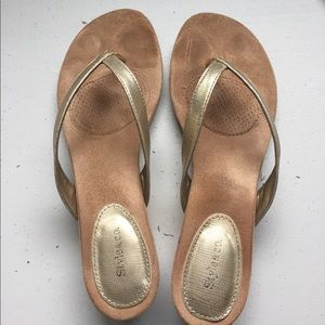 Cute gold Style & Co. slip ons