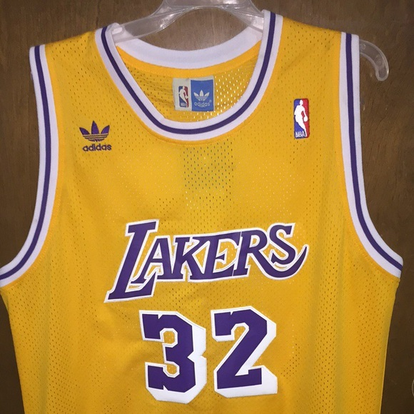 ce62ae784fc Authentic Adidas magic Johnson jersey