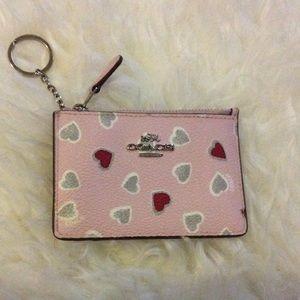 Coach Handbags - *Today Only* Coach Pink Heart Coin Purse Wallet