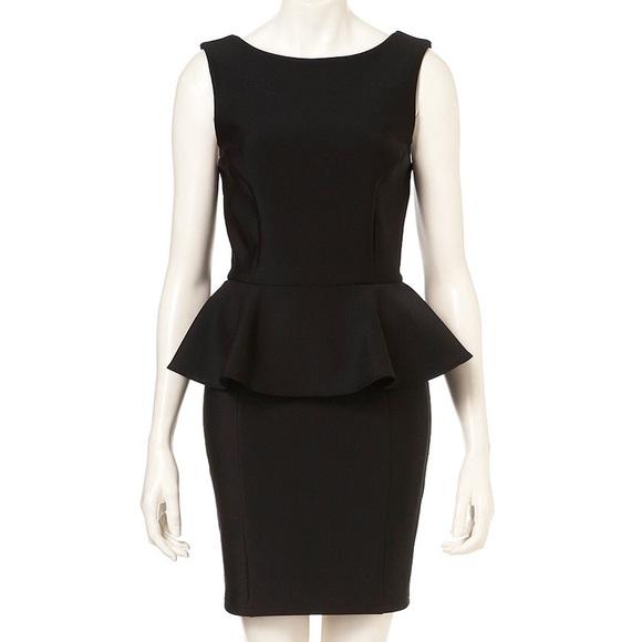 Topshop Dresses Black Peplum Scuba Pencil Dress Poshmark