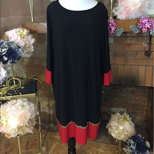 MSK Dresses & Skirts - Msk black and red shift dress size 2X