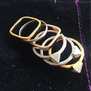 Noir Jewelry Stackable Ring Set