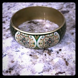 Green and gold Bangle