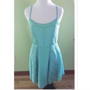 LC Lauren Conrad Dresses & Skirts - 🎉Lauren Conrad Lace Slip Dress in Mint Size 8