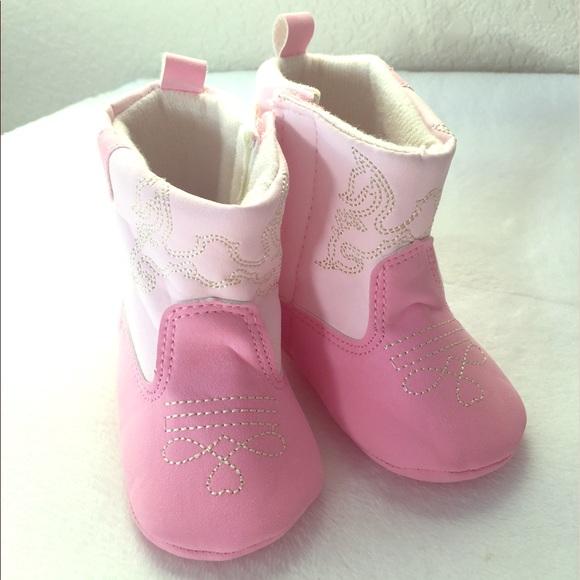 Tendertoes Shoes   Pink Baby Cowboy