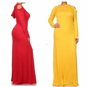 b2fbb02b731557 Dresses   Skirts - Yellow Hooded Dress with Shoulder Cut Out