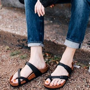 Birkenstock Shoes - Birkenstock Mayari oiled leather strappy sandals