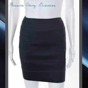 Pleasure Doing Business Dresses & Skirts - PLEASURE DOING BUSINESS Charcoal Gray Banded Skirt