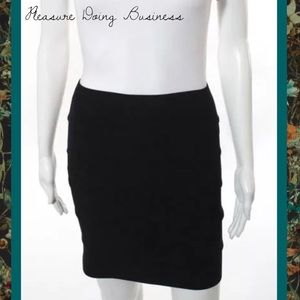 Pleasure Doing Business Dresses & Skirts - PLEASURE DOING BUSINESS Black Banded Pencil Skirt