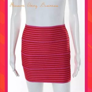Pleasure Doing Business Dresses & Skirts - PLEASURE DOING BUSINESS Pink/Orange Banded Skirt
