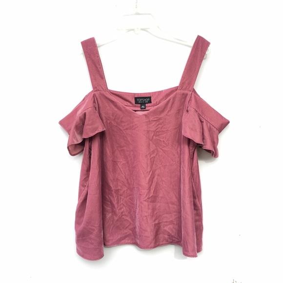 133ee9397a Topshop Dark Blush Velvet Cold Shoulder Top. M_590401672de5125c47027fff