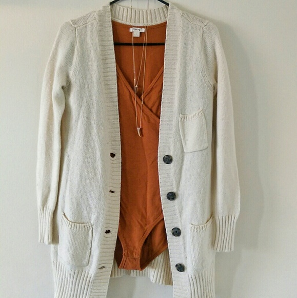 31% off Sweaters - Long chunky beige cardigan from **posh ...