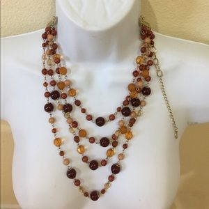 Jewelry - Brown beaded 4 strand necklace