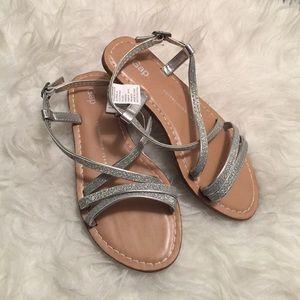 GAP Other - Girls silver glitter sandals. Girls silver sandals