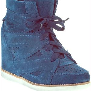 Jeffrey Campbell Shoes - Jeffery Campbell wedge suede sneakers