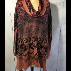 Tops - Southwest Studded Tunic