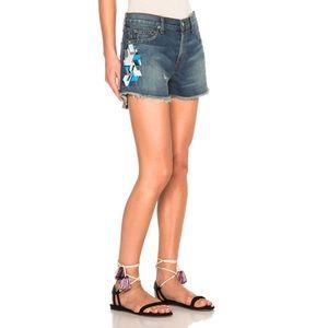 Sandrine Rose Pants - Sandrine Rose Tribal Embroidered Jean Shorts