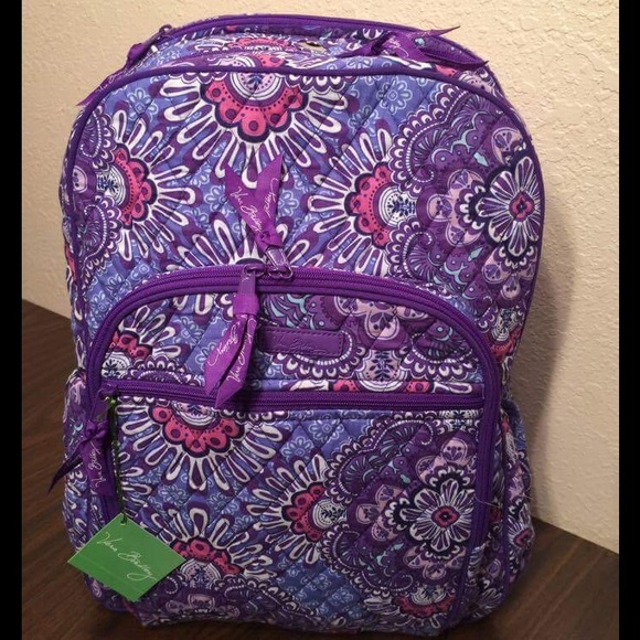 Vera Bradley Lilac Tapestry Campus Tech Backpack