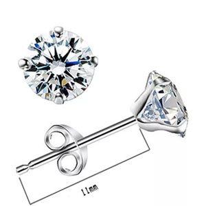 Crystal Other - Sterling Silver Stud Diamond Cut Crystal Earrings