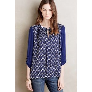{Anthropologie} Meadow Rue Evella Sailboat Blouse