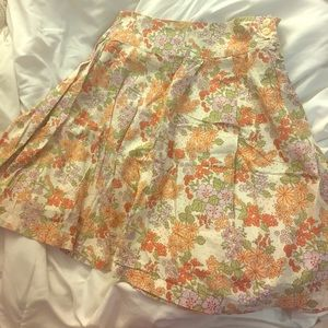 Frenchi Dresses & Skirts - Floral Cotton A-Line Skirt