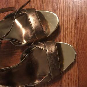 Max Studio Shoes - Gold platform sandals