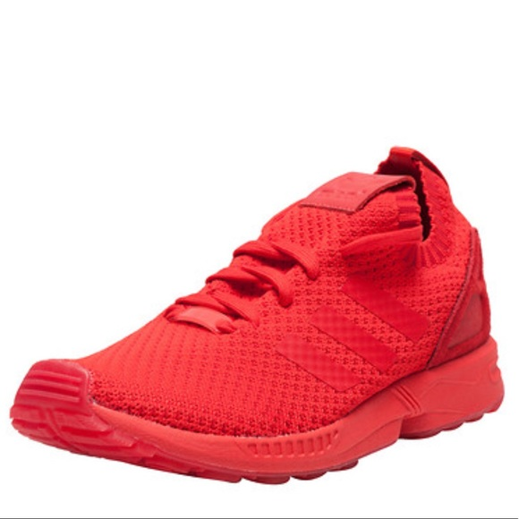 072efdc2db558 Adidas Mens ZX FLUX PK Sneakers In Red S76497