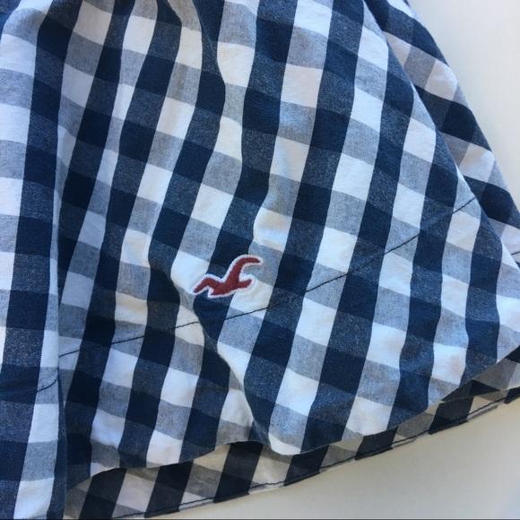 Hollister Skirts - Hollister Blue Gingham Skater Skirt