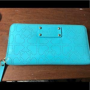 "kate spade Handbags - AUTHENTIC Kate Spade Blue ""Vinyl"" Wallet"