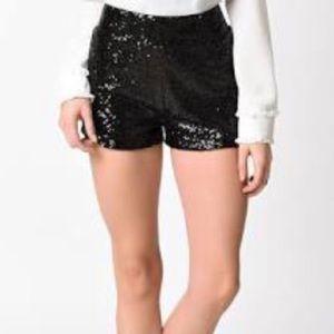 Black Lola dazzling shorts