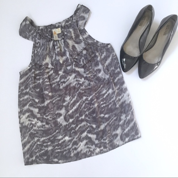 adiva Tops - Adiva animal print silky blouse tank sleeveless