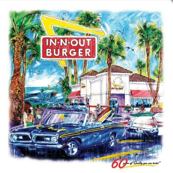 L@@K!!!! 60th Anniversary IN-N-OUT BURGER T-SHIRT