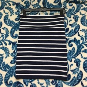 Casual blue/white cotton skirt