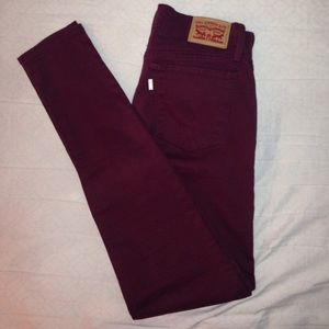 Levi's Pants - Levi's maroon skinny pants