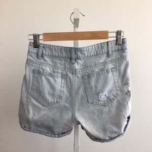 Ellison Shorts - Ellison Distressed Light Wash Denim Shorts