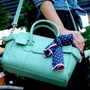 {zink} 🌿 mint green vegan boxcar bag