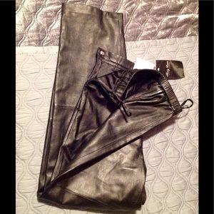 Pants - 100% Gen. Leather pants, blk