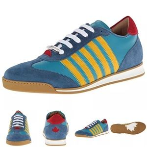 DSQUARED Other - Daquared2 - Blue Leather Fashion Sneakers 42.5 M-D