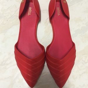 Melissa Shoes - Red pedal Melissa's