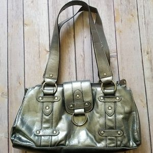 Wilsons Leather Handbags - WILSON'S LEATHER silver metallic bag