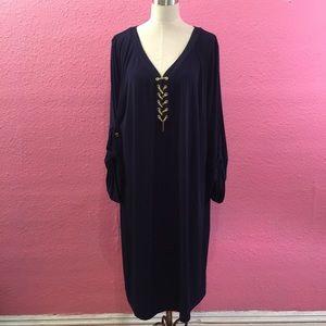 Spense Dresses & Skirts - Plus size career church summer dress  blue